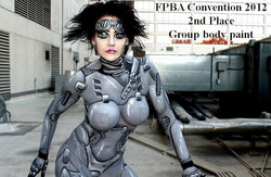 2nd place body art con mar 2012