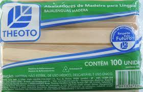 abaixador de língua espátula de madeira