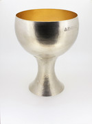 Silver and gold plate goblet