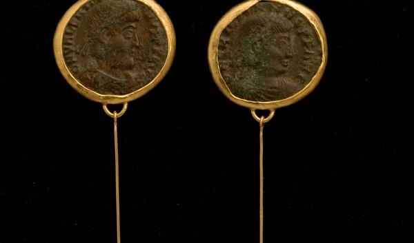 Roman Coin Earrings