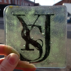 Gift. Hand made glass coaster by Nicola Bloom