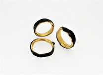 Rings. Steel and solid 22ct gold.
