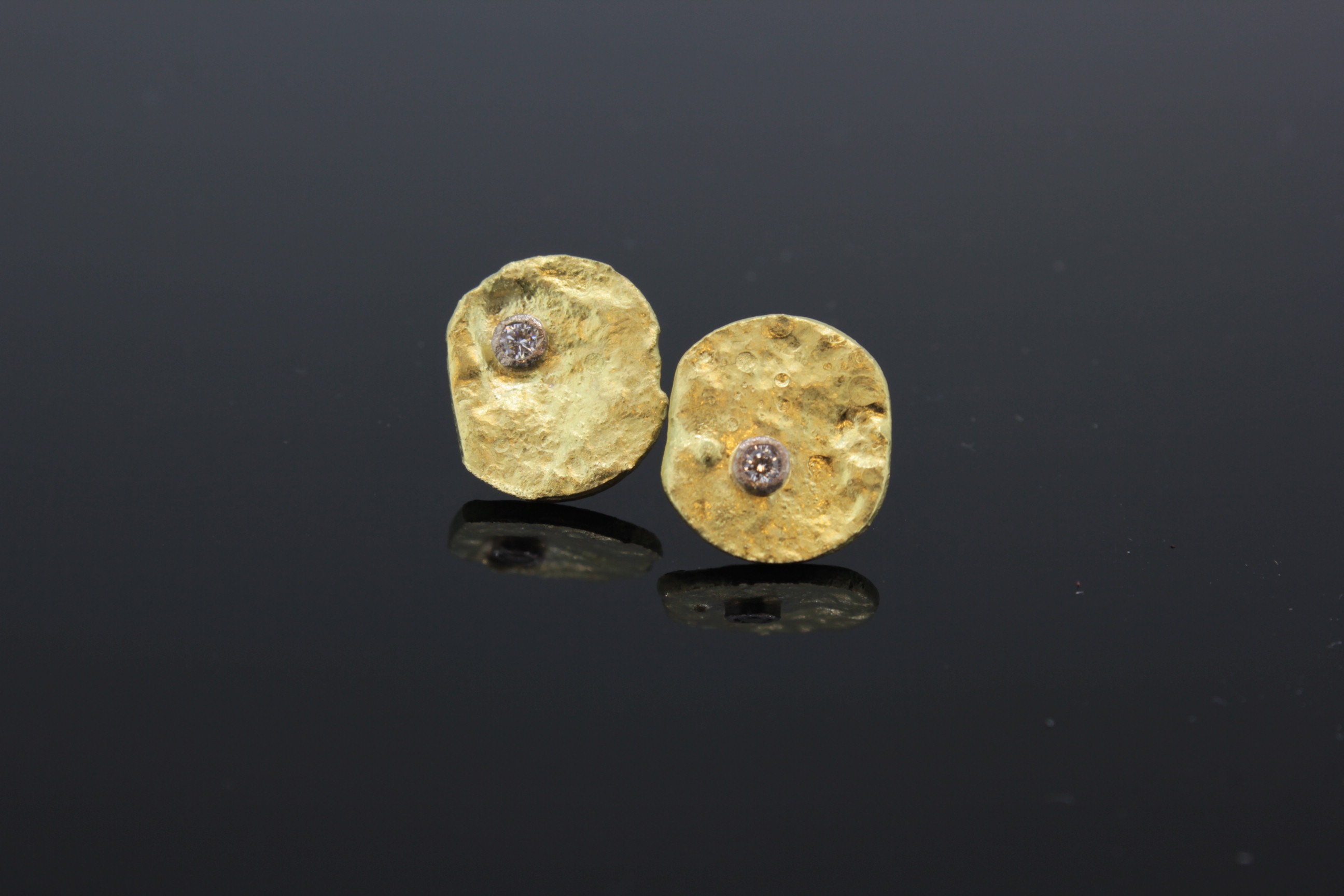 Earrings 18ct white and yellow gold