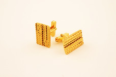 Cuff links. Silver with 22ct gold plate