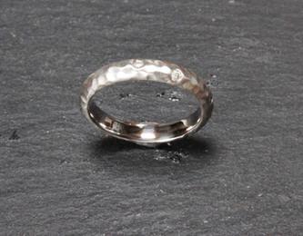 Ellie. Palladium and diamond ring