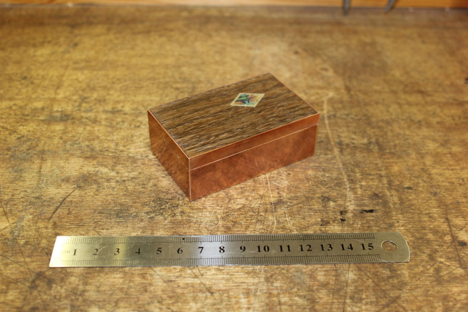 David. Copper box with inlay. Ruler for
