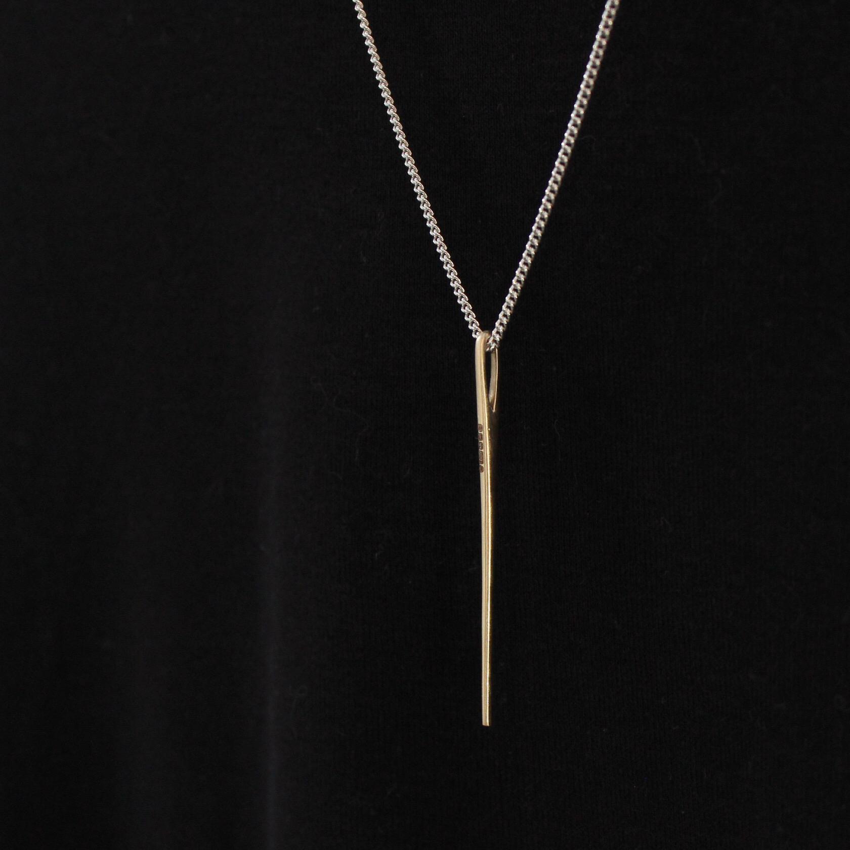 Gold needle hallmarked