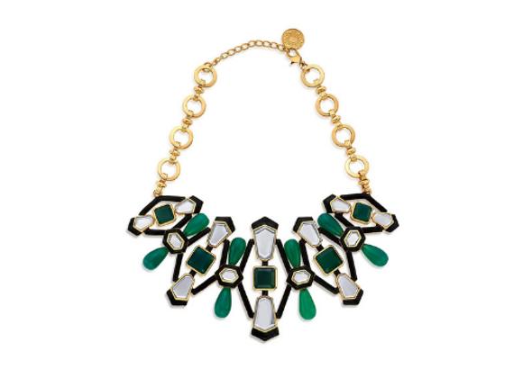ISHARYA Borderless Mirror & Enamel Choker Necklace