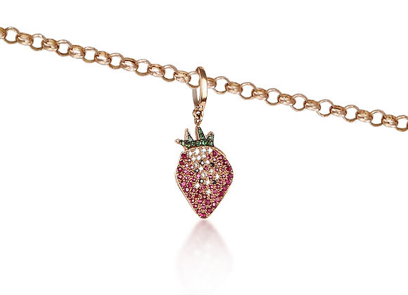 CÉDILLE Necklace Strawberry Front View