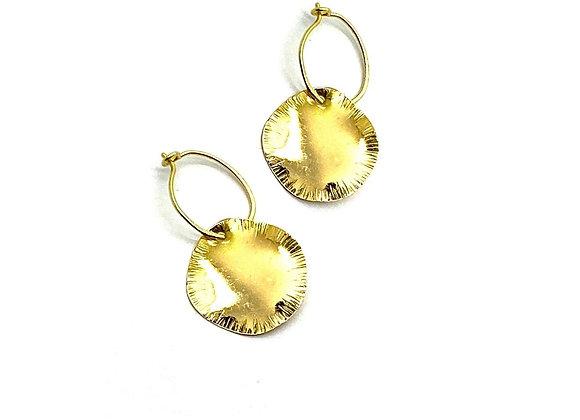 SAIKI Petal Earrings front view.