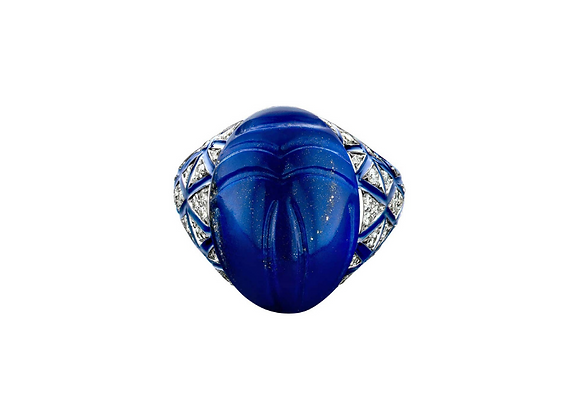 BARE Scarab Ring front view.
