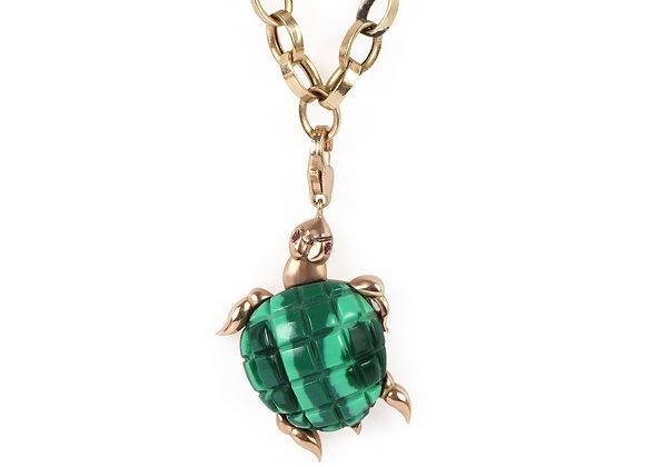 CÉDILLE Turtle Charm Necklace front view.