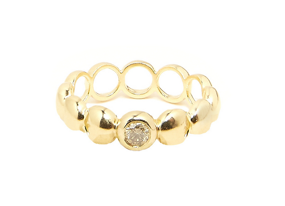 TSURA Luna Phase Eternity Band front view.