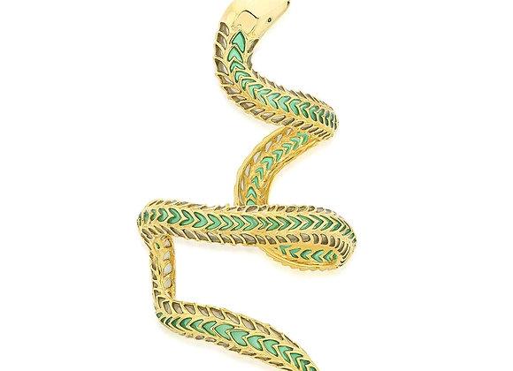 ISHARYA Borderless Coiled Cuff in Green