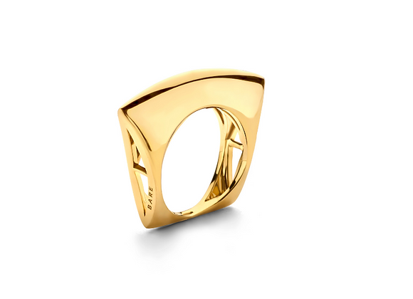 BARE Lotus Ring front view.