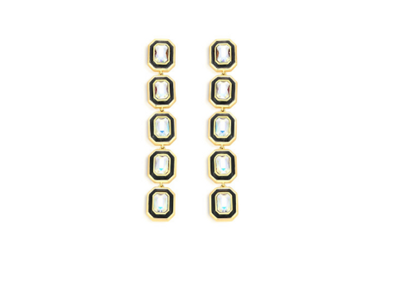 ISHARYA Chandelier Earrings front view.