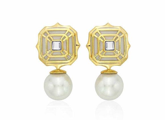 ISHARYA Pearl Drop Earrings