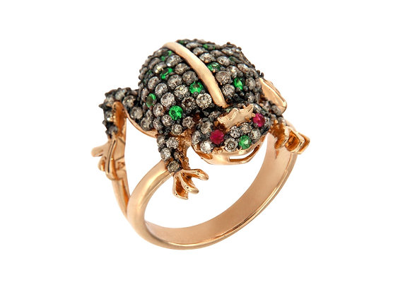 CÉDILLE Frog Ring front view.