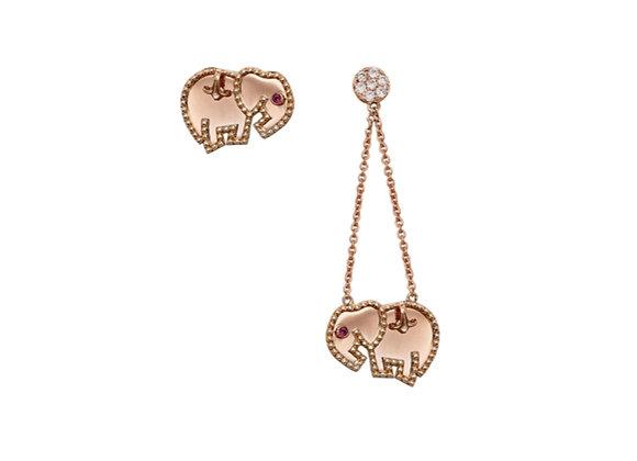 MIMIA LEBLANC Lily The Elephant Earrings Front View