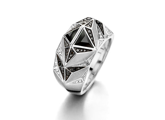 BARE Carioca Ring Onyx front view.