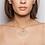 TSURA Blue Sapphires Pavé Spiral Necklace worn.