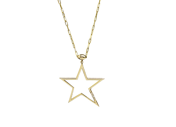 TSURA Star Necklace Front view