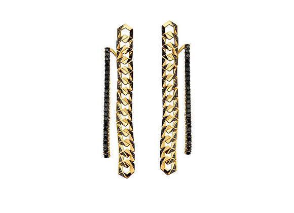 BARE Bond Signature Earrings VII front view.