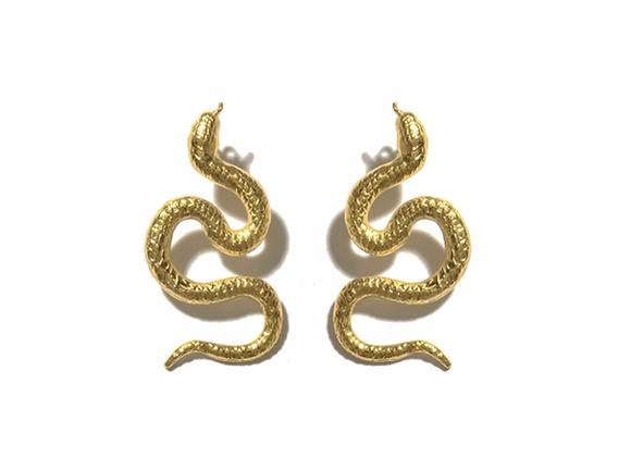 NATIA X LAKO Small Snakes Earrings front view.