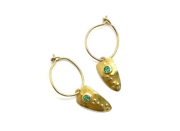 SAIKI Emerald Earrings
