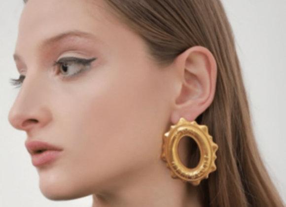 NATIA X LAKO C'est Earrings worn.
