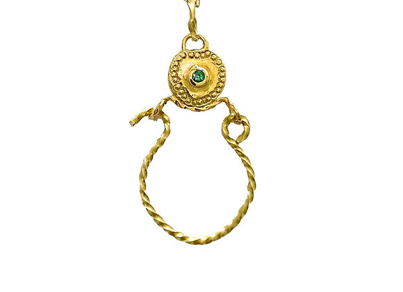 SAIKI Byzance Necklace Emerald