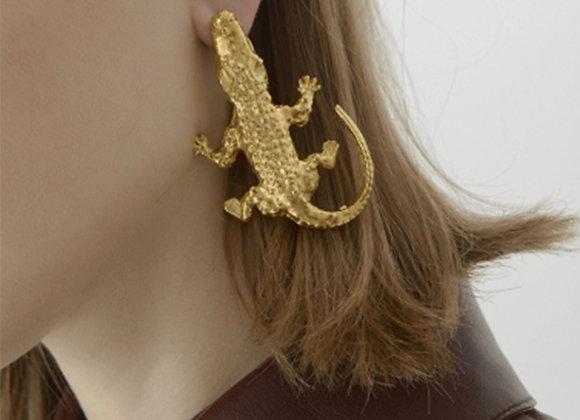 NATIA X LAKO Small Lizard Earrings