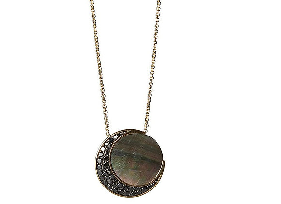 TSURA Black Moon Necklace
