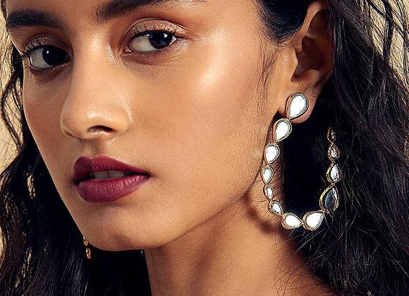 ISHARYA Drop Shaped Earrings worn.
