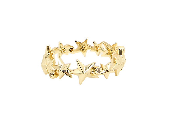 TSURA Star Eternity Band front view.