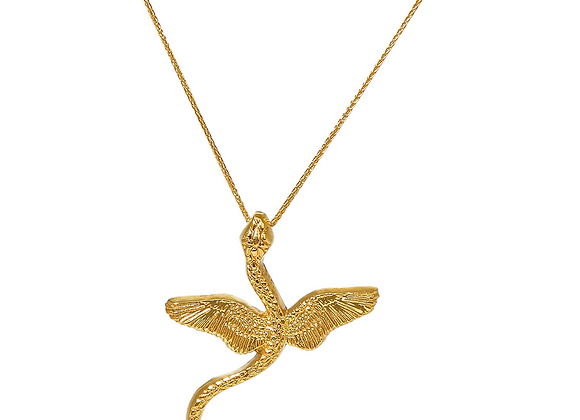 NATIA X LAKO Winged Snake Necklace