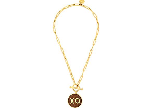 ISHARYA Personalized Initium Toggle Necklace in Wood