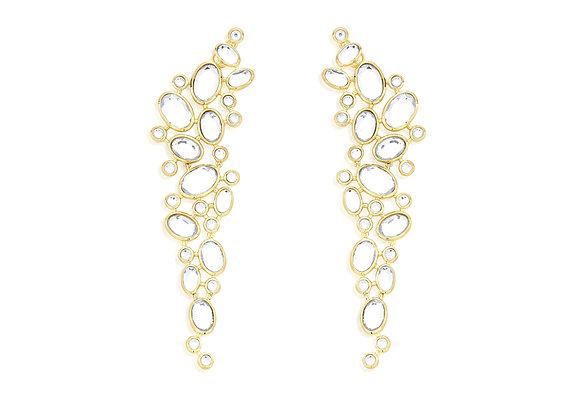 ISHARYA Mirror Statement Earrings
