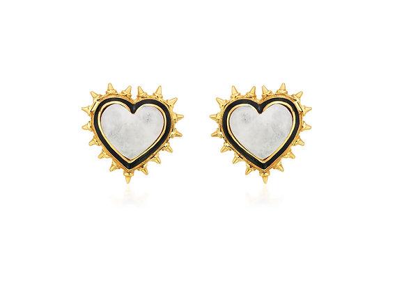 ISHARYA Heartful Love Duo Studs