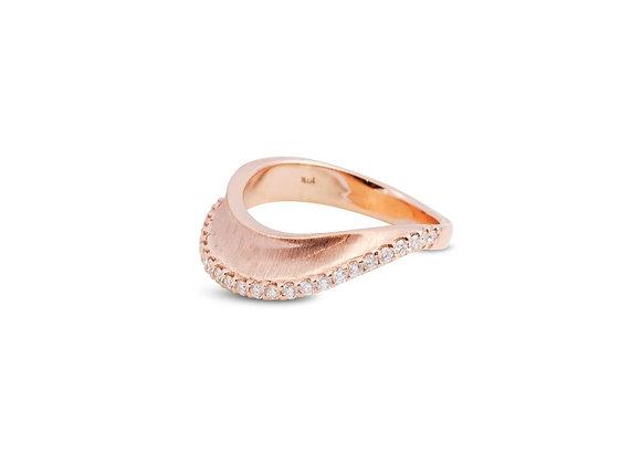 KAVANT & SHARART Talay Wave II Rose Gold Ring