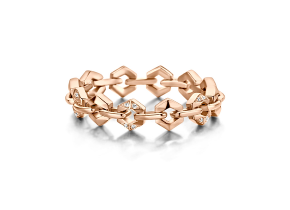 BARE Pink Bond Signature Mini Ring front view.