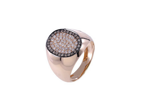 CÉDILLE Ring Chevaliere Oval Shape Medium front view.