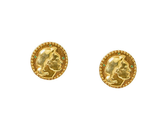 NATIA X LAKO Coin Earrings front view.