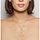 TSURA Pavé Spiral Necklace worn.