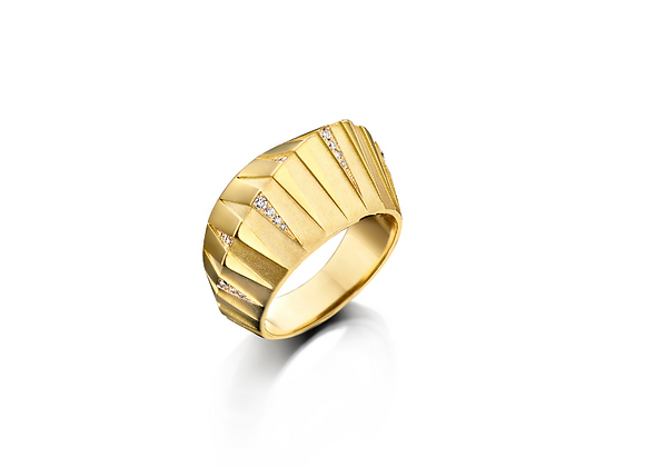 BARE Pyramid Ring front view.
