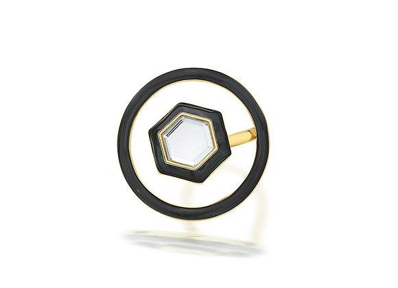ISHARYA Borderless Illusion Ring front view.