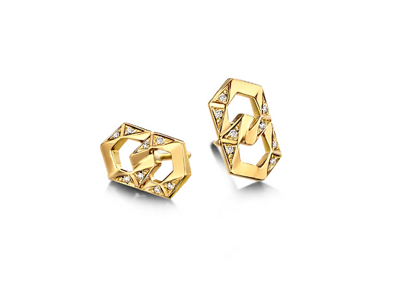 BARE Bond Signature Stud Earrings front view.