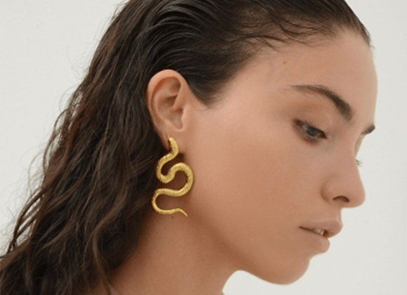 NATIA X LAKO Small Snakes Earrings