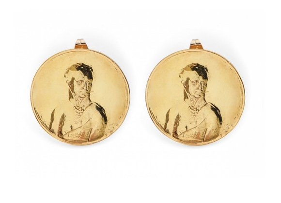 NATIA X LAKO Medallion Earrings Front View