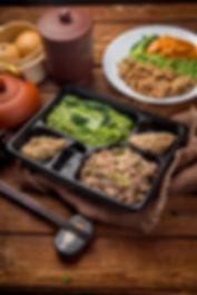 Food Menu Noodle wih Pork in the box
